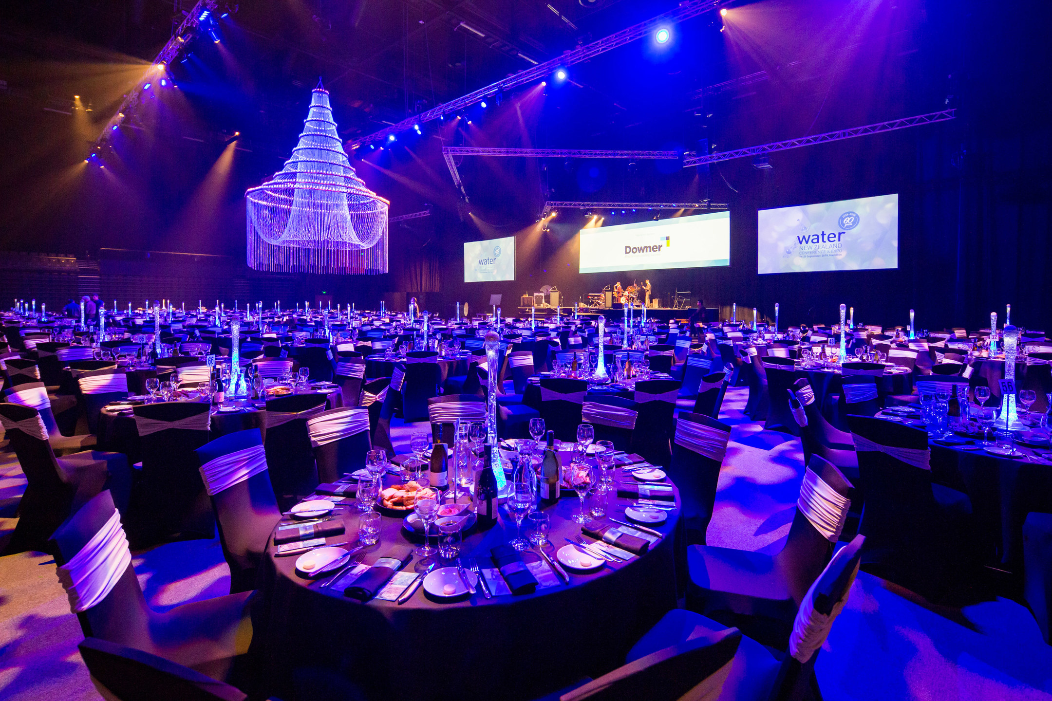 Water NZ Conference Banquet Setup 2018 Claudelands Arena 1